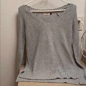 Grey with silver sweater